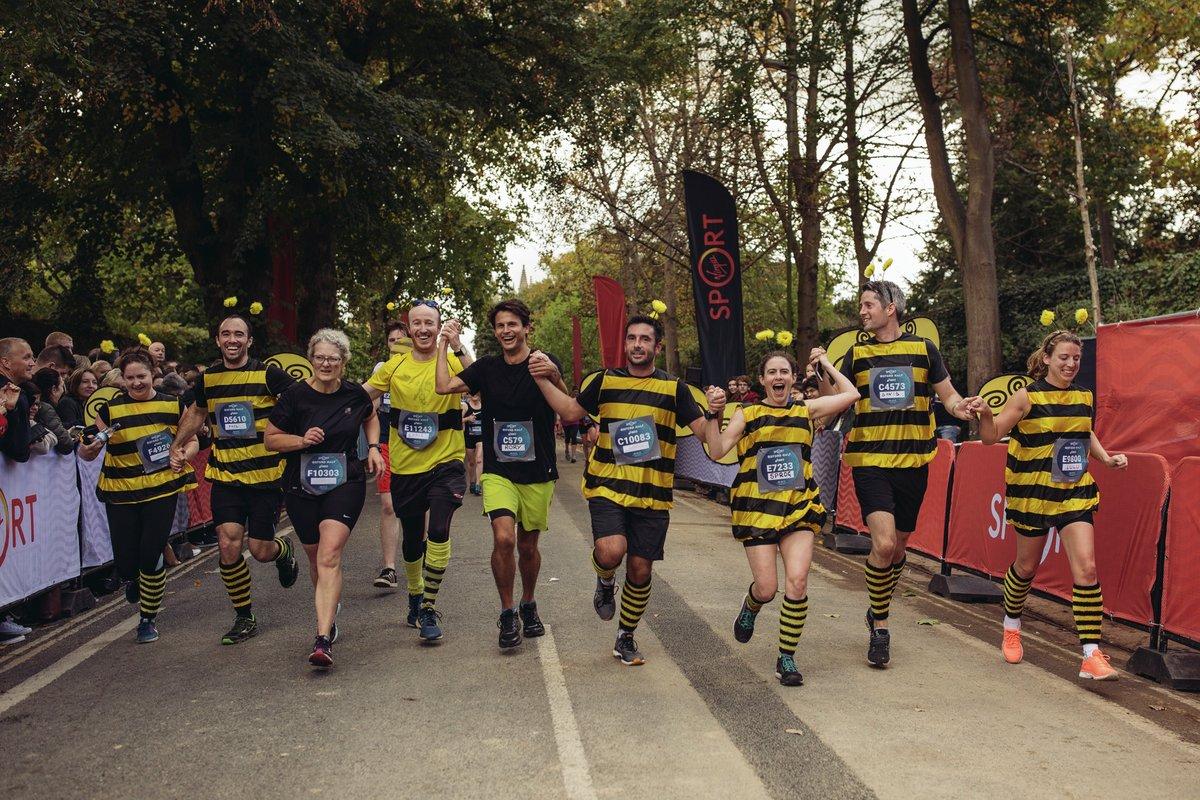 Bees running at the Oxford Half 2017