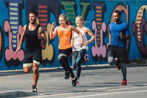 Running in Hackney graffiti