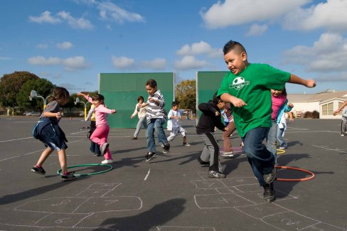 Playworks charity organization - children playing.
