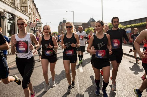 Pacers at the Virgin Sport Hackney Half Marathon 2017