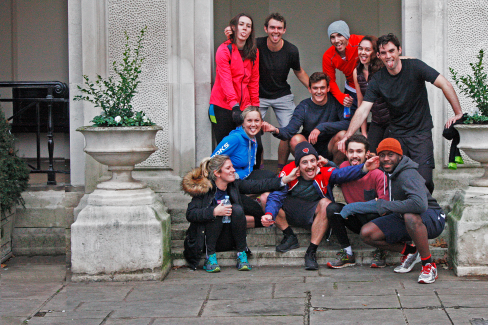 The Virgin Sport team in our London offices - we are runners and sporters!