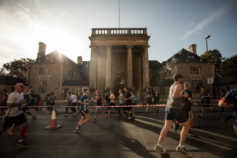 Runners at the Virgin Sport Oxford Half on the beautiful route