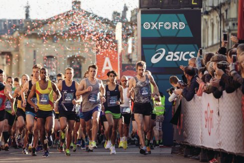 Runners at the starting line of the Virgin Sport Oxford Half 2017