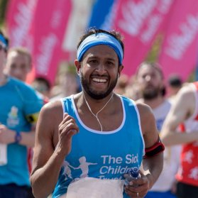 A runner for charity at a Virgin Sport event.