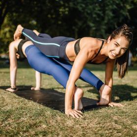 partner yoga exercise