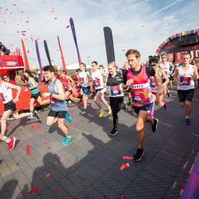 The starting line at the 2017 Hackney Half marathon.